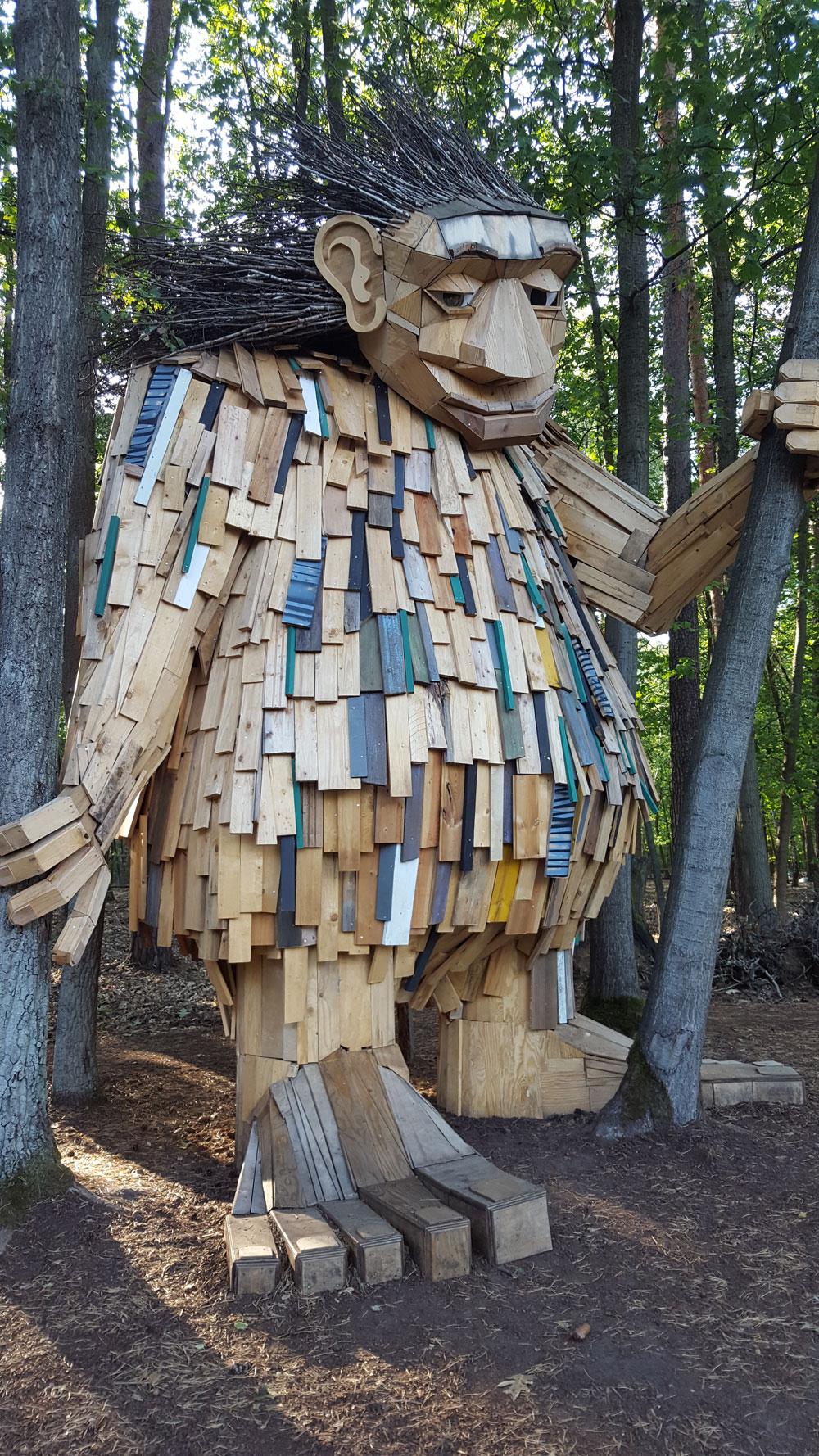Holzskulptur Großer Waldtroll
