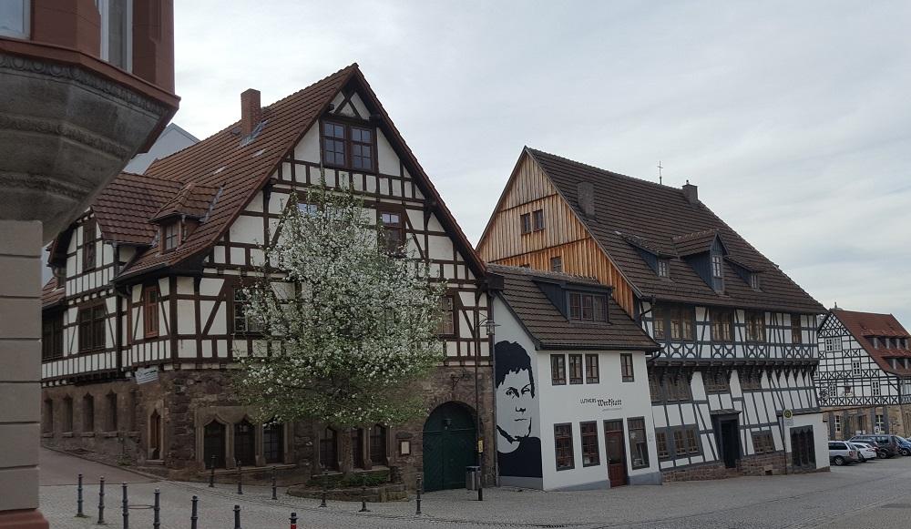 Fachwerkhäuser in der Innenstadt von Eisenach