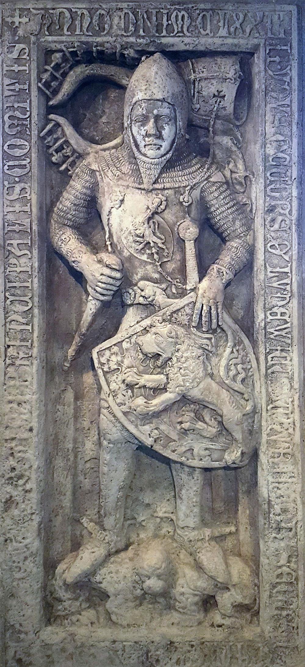 Grabplatte von Ludwig dem Springer - Gründer der Wartburg