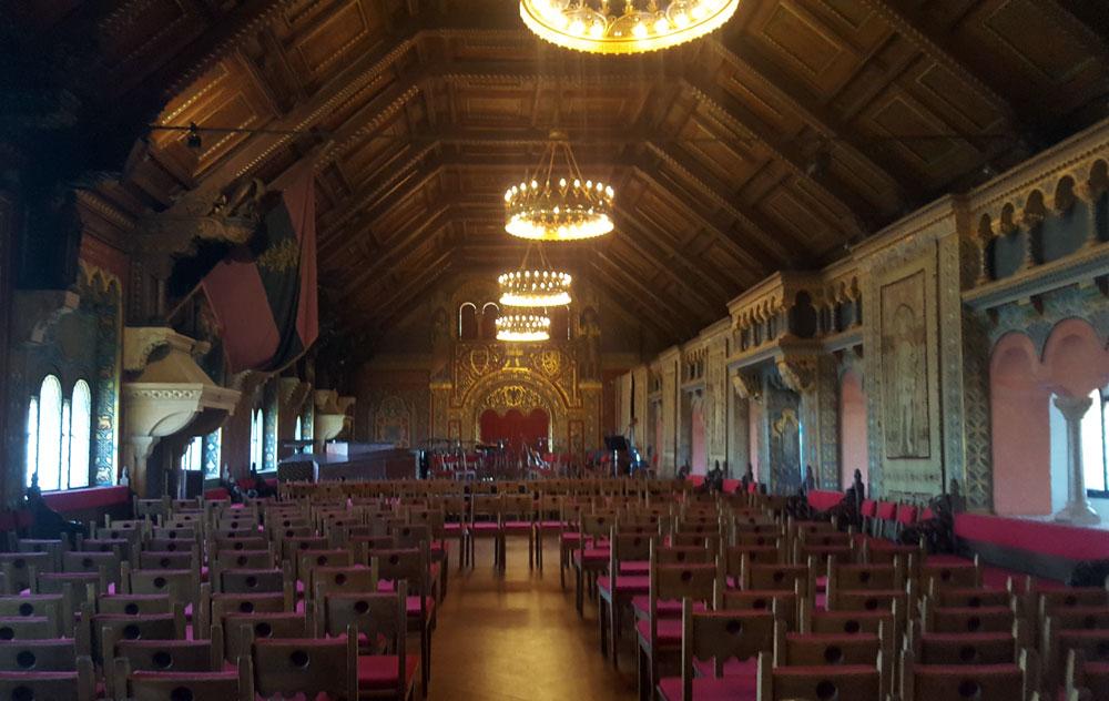 Der Kammersaal in der Burg