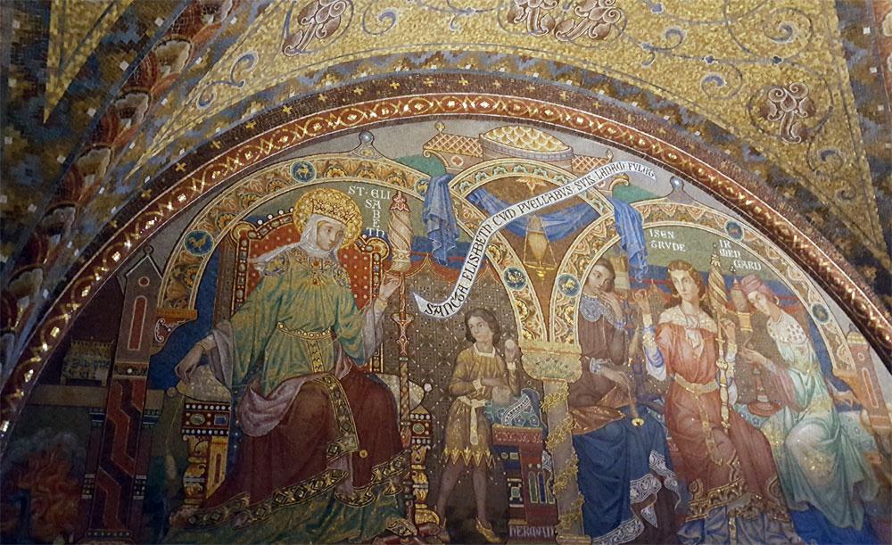 Wandgemälde der heiligen Elisabeth