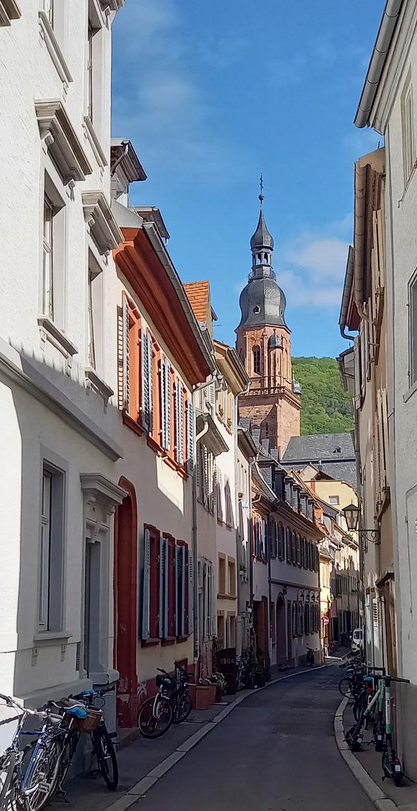 Gasse in der Altstadt von Heidelberg