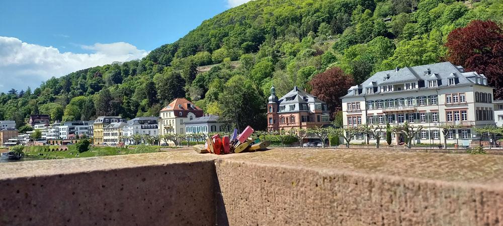 Blick auf die Villen in Neuenheim