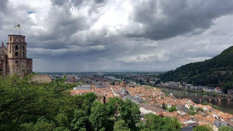 Blick auf die Universitätsstadt Heidelberg am Neckar