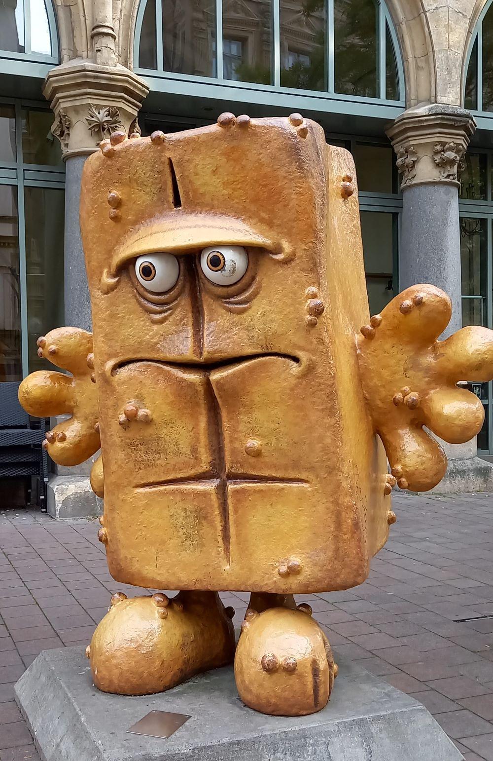 Bernd das Brot am Fischmarkt in Erfurt