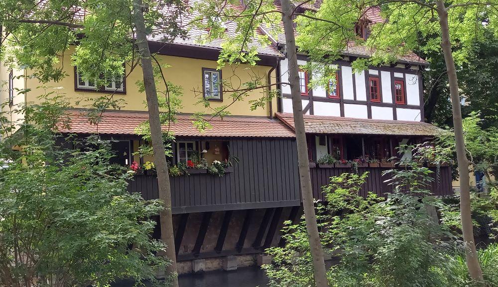 Fachwerkhäuser an der Gera in der Erfurter Altstadt