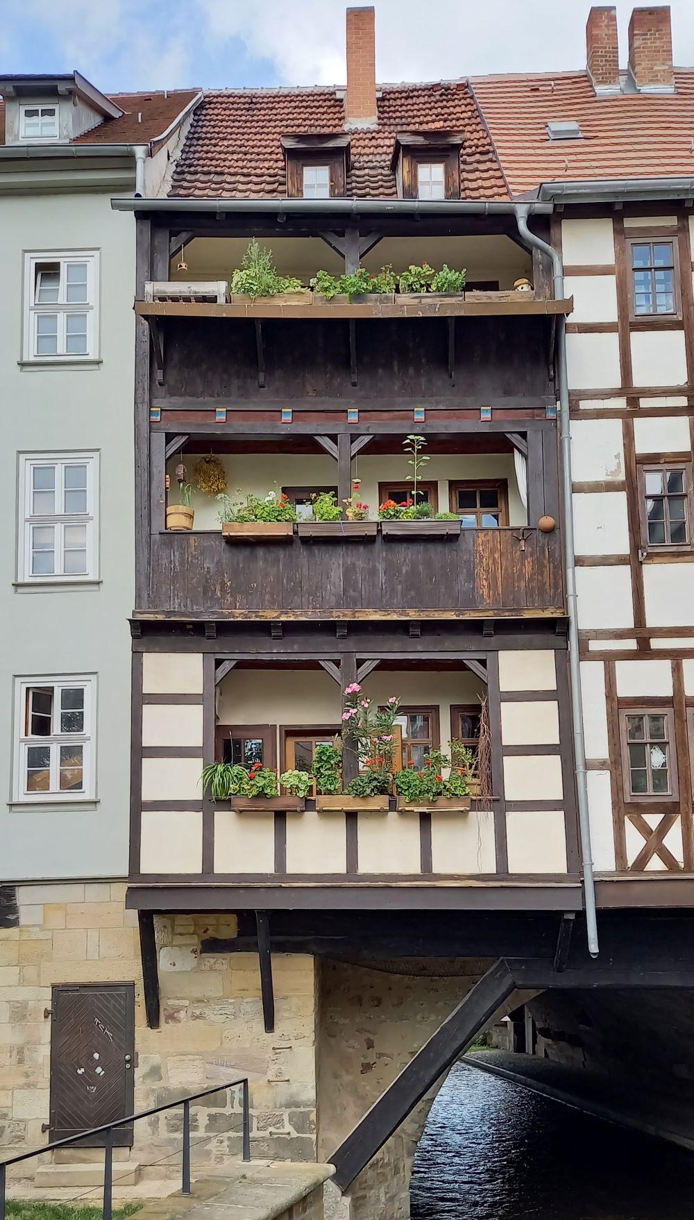 Fachwerkhaus auf der Krämerbrücke