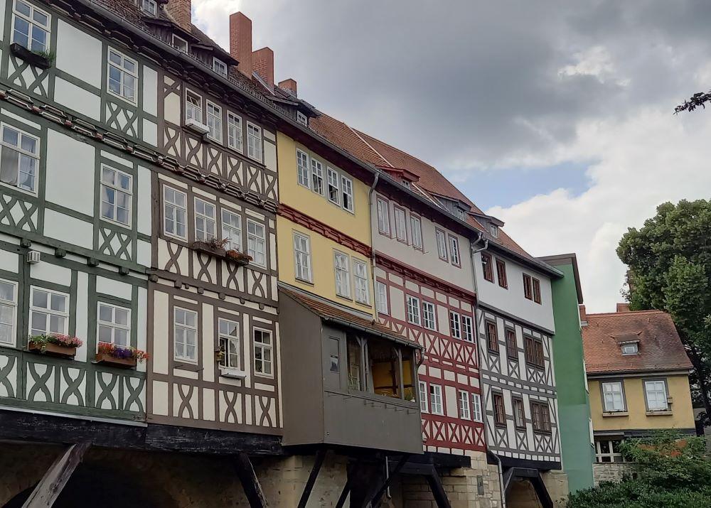 Die Krämerbrücke in der Erfurter Altstadt