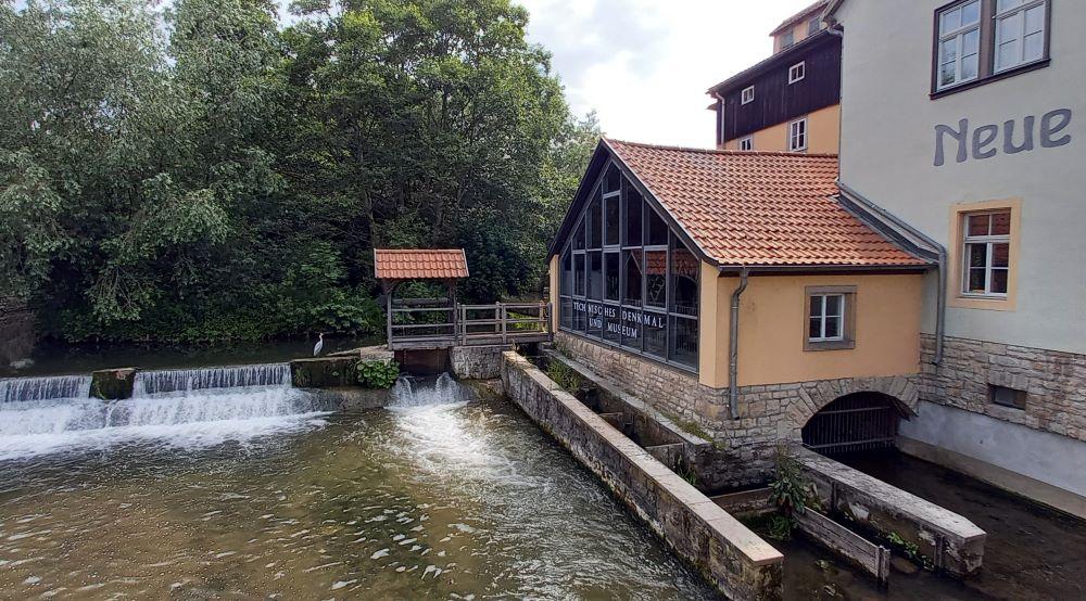 Das technische Museum Neue Mühle an der Schlösserbrücke in Erfurt